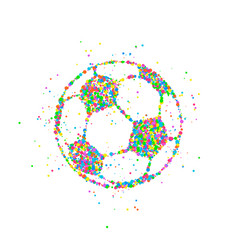 soccer ball abstract vector image vector image
