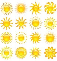 sun icons vector image
