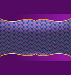 thai frame luxury violet background vector image
