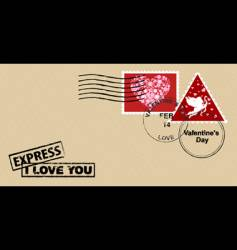 Valentine's day envelope vector image vector image