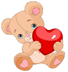Valentines Teddy Bear vector image