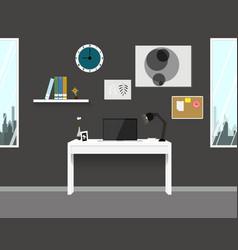 workspace interior home modern design vector image