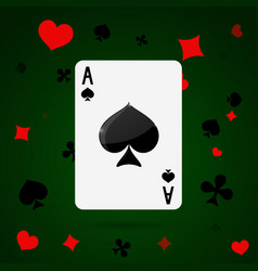 Ace of spades playing cards vector