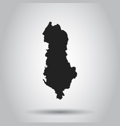 Albania map black icon on white background vector
