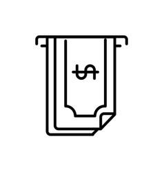 atm banknote business cash money line design vector image