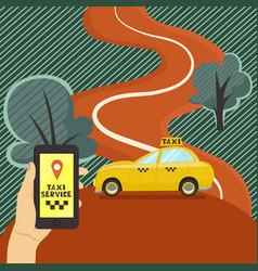 banner taxi service call a taxi graphics vector image