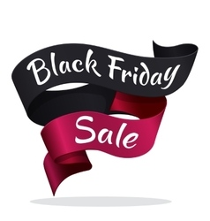 Black Friday tape with text advertisement vector image