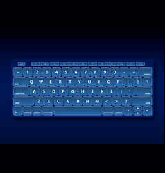 Black keyboard object vector