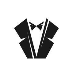Black tuxedo logo vector