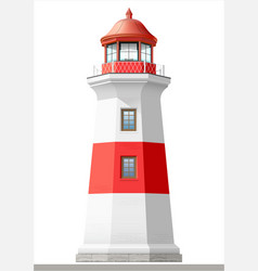 Bright sea lighthouse vector