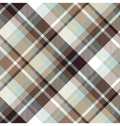Brown blue diagonal check plaid seamless pattern vector