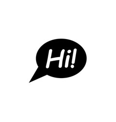 bubble chat hi icon signs and symbols can be used vector image