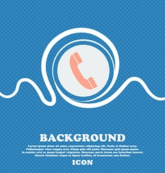 Call icon sign Blue and white abstract background vector