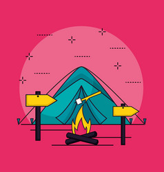 camping summer related vector image