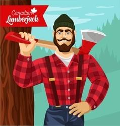 Canadian lumberjack vector