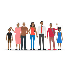 cartoon characters people african american family vector image