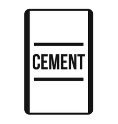 Cement icon simple style vector