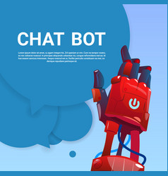 chat bot robot virtual assistance of website or vector image