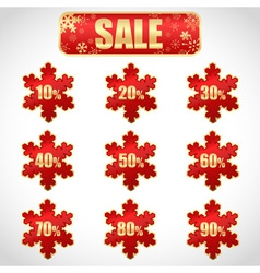Christmas sale stickers vector