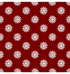 Christmas seamless pattern from red snowflakes vector image