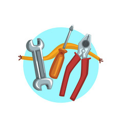 Construction repair tools icon pliers vector