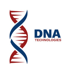 dna emblem abstract helix genetics and genome vector image
