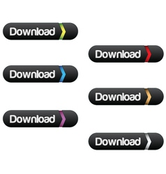 Download button set vector image