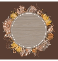 Fall Floral Frame vector