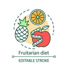fruitarian diet concept icon vegetarian nutrition vector image