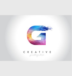 G paintbrush letter design with watercolor brush vector