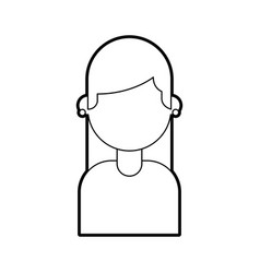 girl female young cartoon portrait vector image