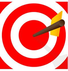 hitting center dartboard vector image