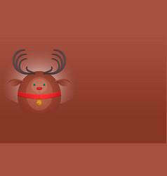 horizontal postcard with a christmas deer and vector image