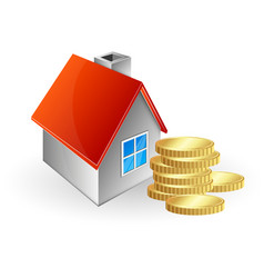 house and coins vector image