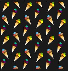 Ice cream pattern seamless pattern vector