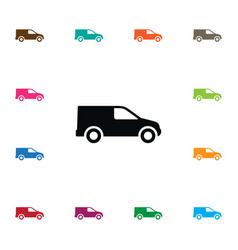 isolated shipping icon van element can be vector image