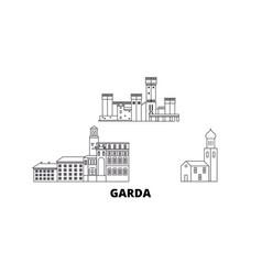Italy garda line travel skyline set italy garda vector