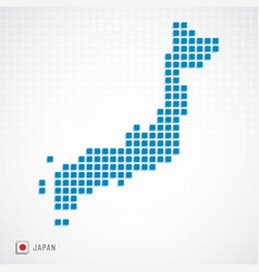japan map and flag icon vector image