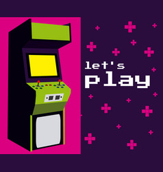 lets play arcade vector image
