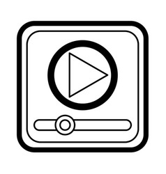 Media player application icon vector