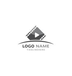 Movie logo template vector