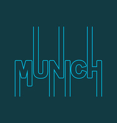 Munich city name vector