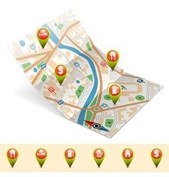 Navigation concept vector