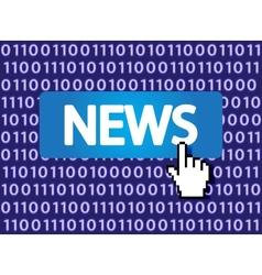 news button vector image