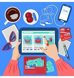 Online Mobile Shopping Concept vector