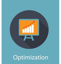 Optimization Flat Concept Icon vector