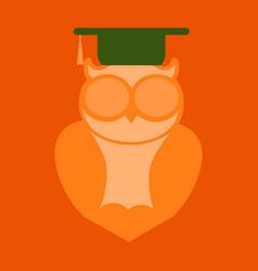 Owl education logo design vector