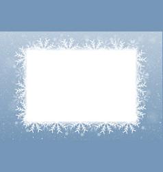 Rectangle Blank banner Snowflakes Snow vector