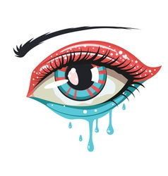 Red Blue Colors Eye vector image