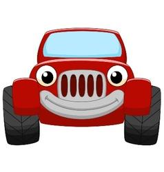 Red car cartoon vector